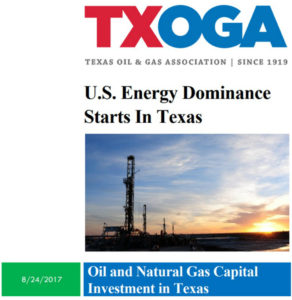 TXOGA report: U.S. Engery Dominance Starts in Texas