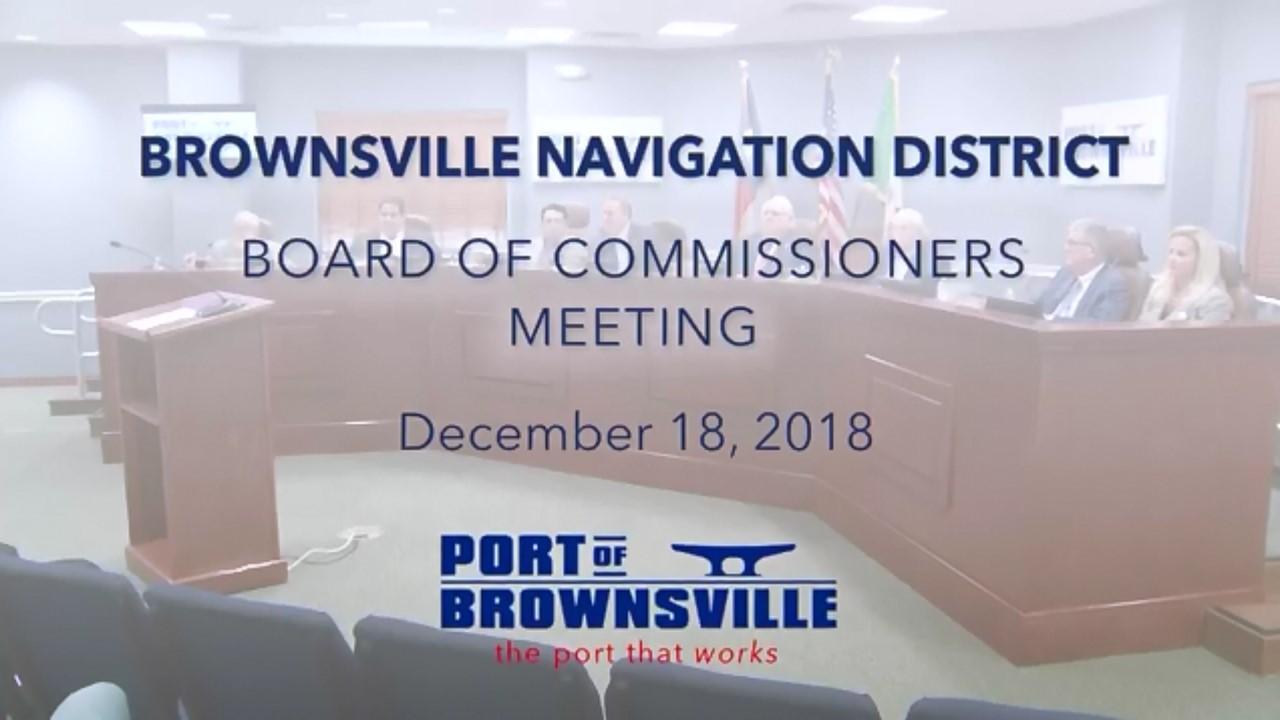 12-18-18 Workshop/Regular Board Meeting at 2 p.m.