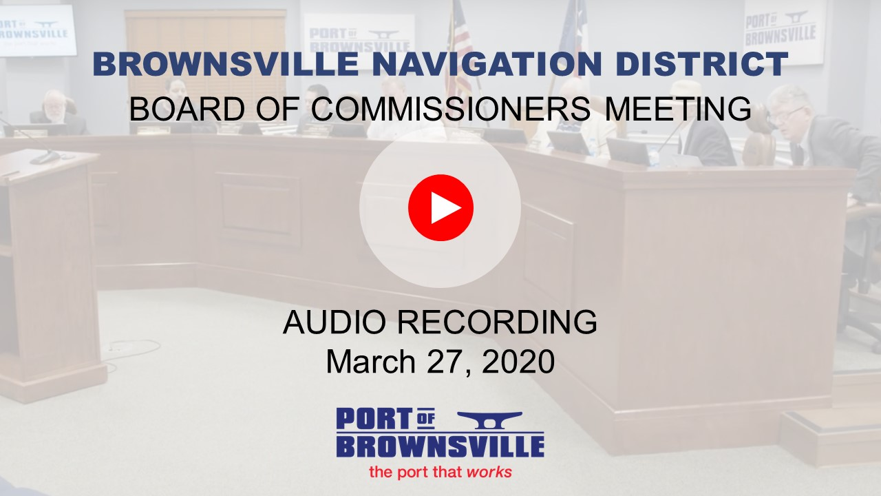 Special Board Meeting 03-27-20