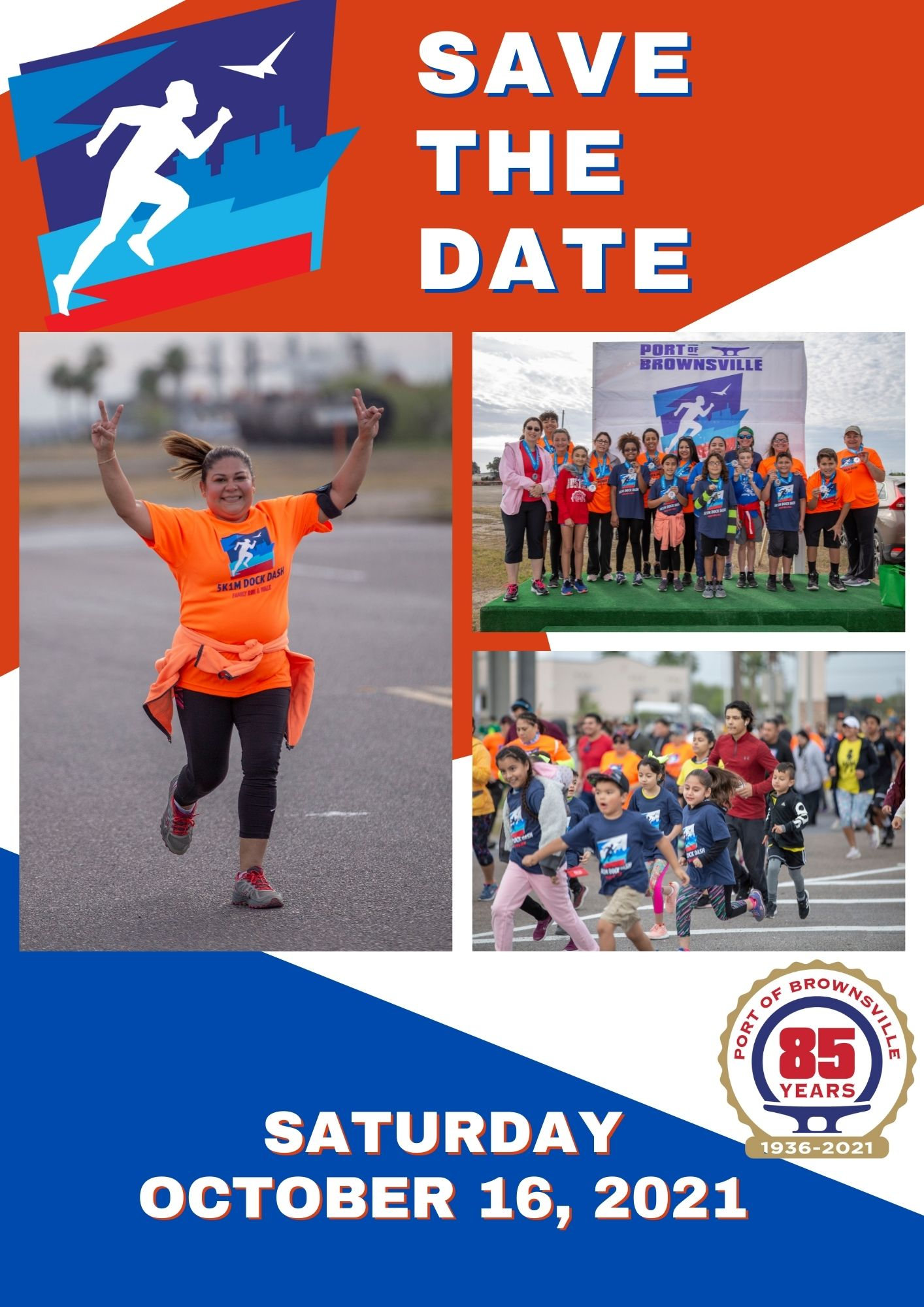 Save the Date Dock Dash October 16, 2021